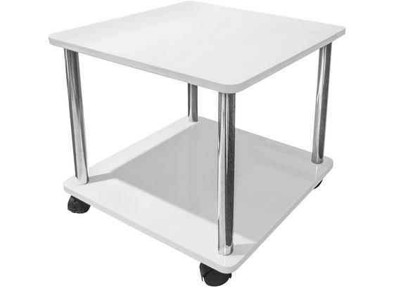 Odkládací Stolek Paul - bílá, Moderní, kov/kompozitní dřevo (40/41,5/40cm)