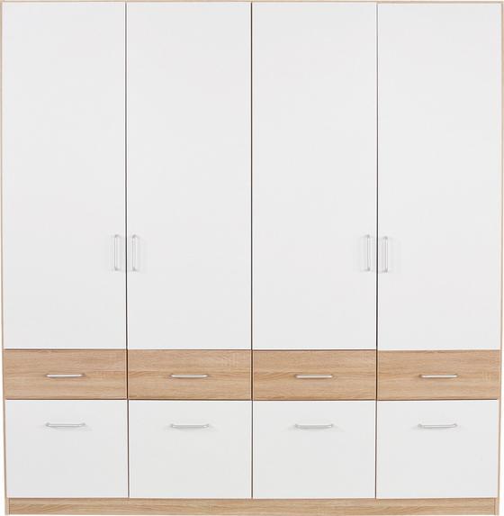 Ruhásszekrény Aalen Extra - tölgy színű/fehér, konvencionális, faanyagok (181/197/54cm)