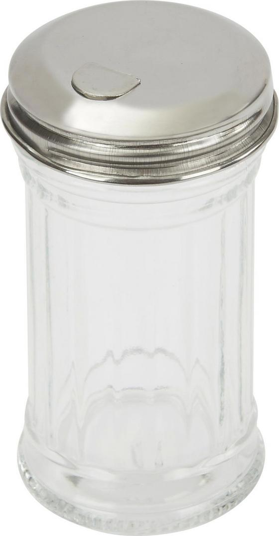 Zahnstocherspender Fackelmann - Klar/Edelstahlfarben, KONVENTIONELL, Glas/Metall (9cm) - Fackelmann
