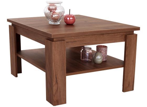 Konferenčný Stolík Nizza 1 - farby dubu/tmavohnedá, Moderný, kompozitné drevo (70/45/70cm)