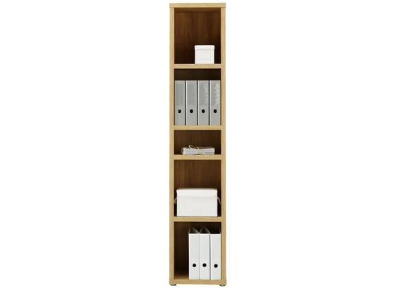 Regál Riga - farby dubu, Moderný, kompozitné drevo (40/199,8cm) - Premium Living