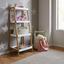 Regal Mirella - bílá/barvy buku, Moderní, dřevo (44/110/37cm) - Modern Living