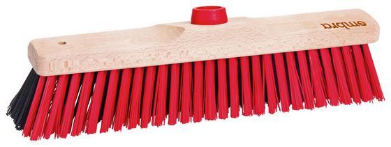 Besen Woody - Nussbaumfarben, KONVENTIONELL, Holz/Kunststoff (35cm) - Ombra