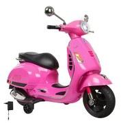 Kindermotorrad Ride-On Vespa Gts 125 Pink - Pink/Silberfarben, Basics, Kunststoff (101/45,5/76cm)