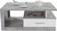 Konferenční Stolek Iguan - bílá/šedá, Moderní, kompozitní dřevo (110/45/67cm)