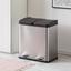 Nášlapný Kôš Trash - čierna/strieborná, Moderný, kov/plast (46,3/37,1/52,6cm) - Premium Living