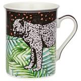 Kaffeebecher Jungle, ca. 280ml - Multicolor, MODERN, Keramik (0,28l) - Luca Bessoni