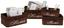 Aufbewahrungskörbchen Ruby  L - Braun/Grau, Weitere Naturmaterialien/Textil (33/23/14cm) - James Wood