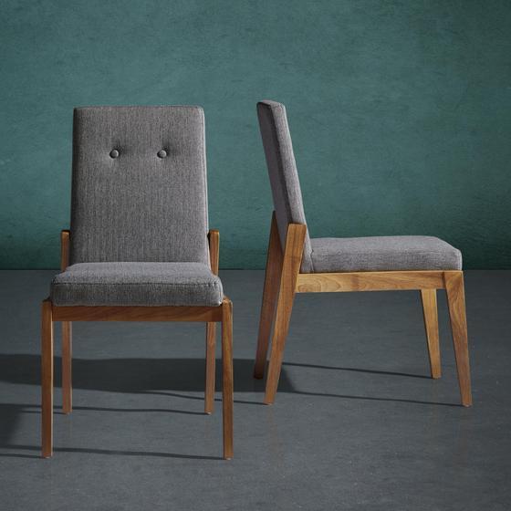 Židle Jarry - šedá, Moderní, dřevo/textil (47/86/58cm) - Mömax modern living