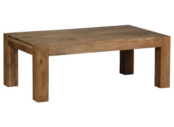 Massiver Couchtisch Holz mit Ablage Mumbai, Akazie - Akaziefarben, Design, Holz (110/60/40cm) - Carryhome
