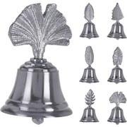 Dekoglocke Glocke Blatt 6-Design - Silberfarben, Basics, Metall (6/10cm)