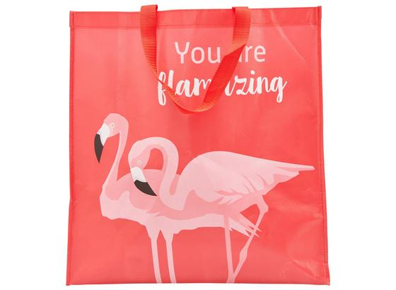 Taška Nákupní Flamingo Couple - bílá/růžová, Moderní, umělá hmota (45/47/17,5cm) - Mömax modern living