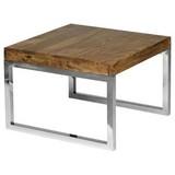 Beistelltisch Guna L: ca. 60 cm - Chromfarben/Sheeshamfarben, Design, Holz/Metall (60/40/60cm) - Carryhome