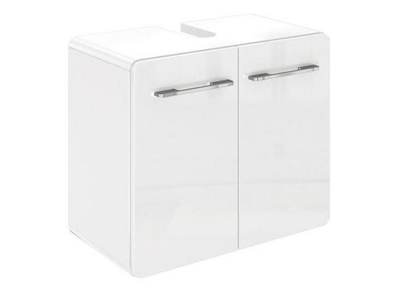 Waschbeckenunterschrank Faro B: 60 cm Weiß - Weiß, Basics, Holzwerkstoff (60/52/35cm) - Livetastic