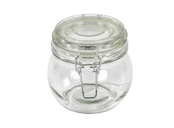 Einmachglas, Ilonka ca. 450ml, Bügelverschluss - Klar, KONVENTIONELL, Glas/Metall (11/10,5cm) - Luca Bessoni