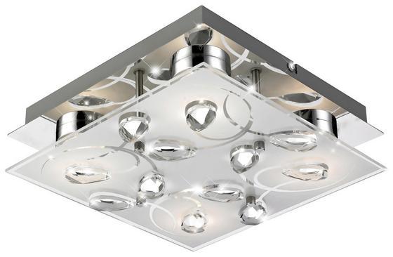 LED-Außenleuchte Alexa - Silberfarben, MODERN, Glas/Metall (22/22/7,1cm)