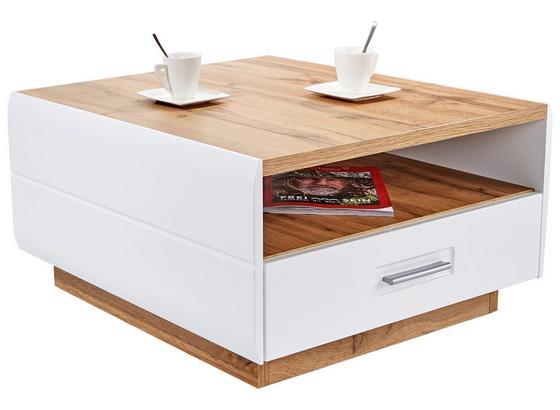 Konferenčný Stolík Avensis - farby dubu/biela, Moderný, kompozitné drevo (75/40/75cm) - Luca Bessoni