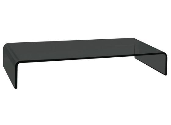 Tv Nástavec Hagen - černá, Moderní, sklo (55/11/25cm)