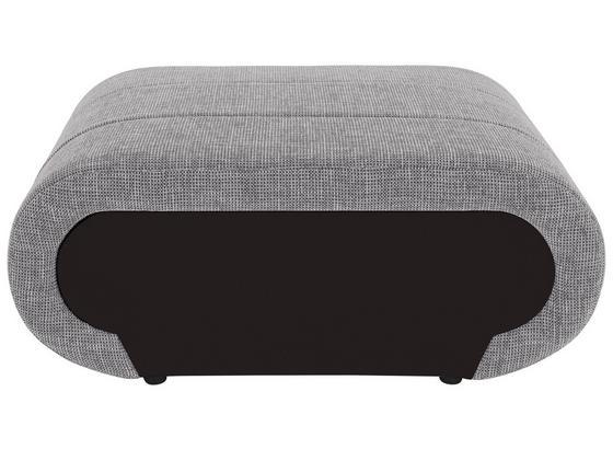 Hocker Carisma - Hellgrau/Schwarz, MODERN, Textil (100/42/66cm) - Ombra
