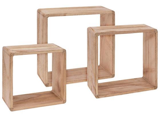 Wandregalset Cube 3er Set - Naturfarben, MODERN, Holz (30/30/12cm)