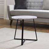 Konferenčný Stolík Silvia - čierna/biela, Moderný, kov/kompozitné drevo (45/45cm) - Modern Living