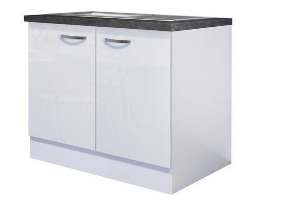 Kuchyňská Spodní Skříňka Alba  Dspu 100 Es - bílá, Moderní, kompozitní dřevo (100/86/57cm)