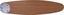 Deckenventilator Rolan - Buchefarben/Graphitfarben, MODERN, Glas/Holz (132/40,6cm)