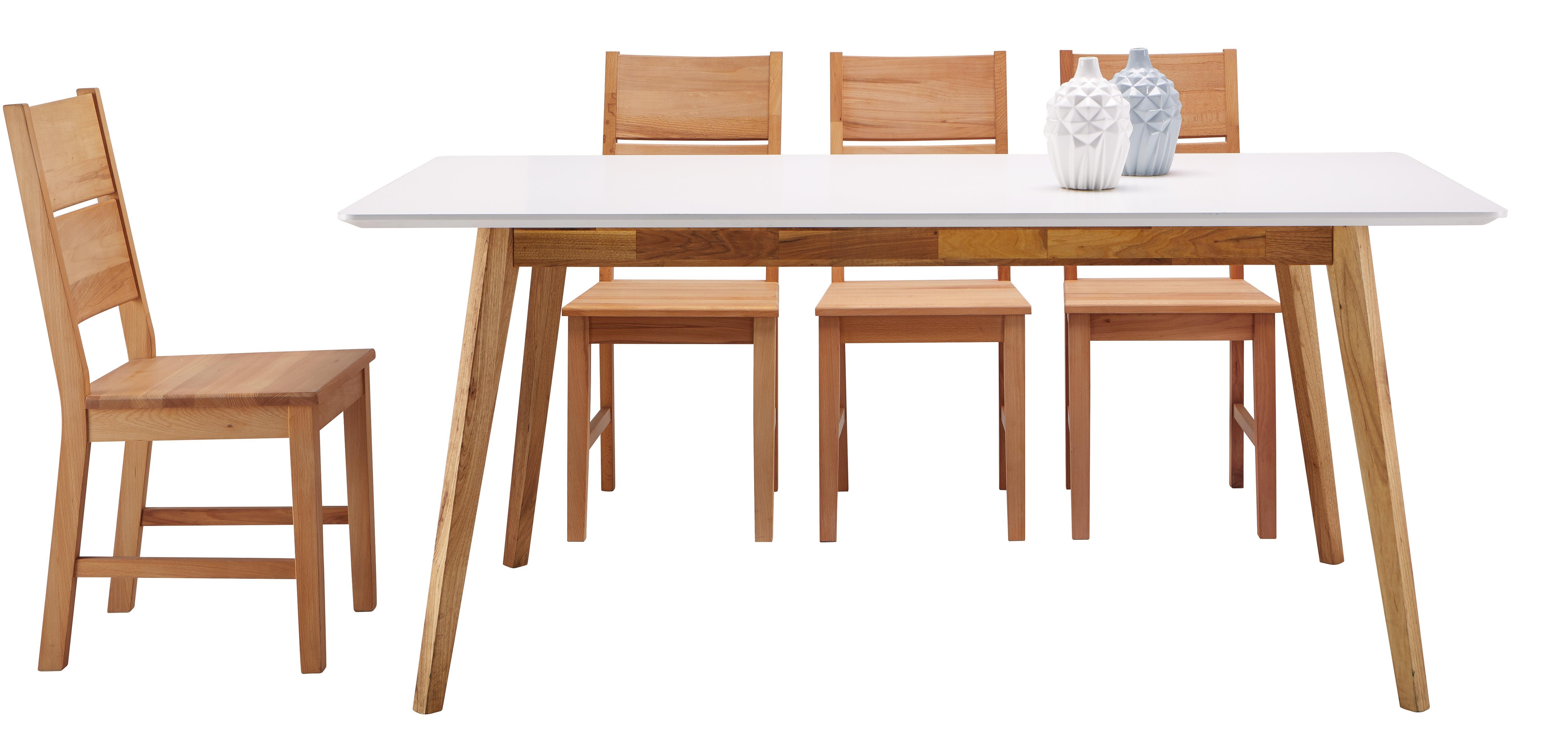 Jídelní Stůl Durham - bílá/hnědá, dřevo/dřevěný materiál (180/76/90cm) - MÖMAX modern living