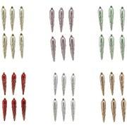 Dekohänger Eiszapfen - Rot/Silberfarben, KONVENTIONELL, Kunststoff (13cm) - Ombra