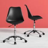 Otočná Stolička Nico - čierna/farby chrómu, Moderný, umelá hmota/kov (58/80,5/64cm) - Modern Living