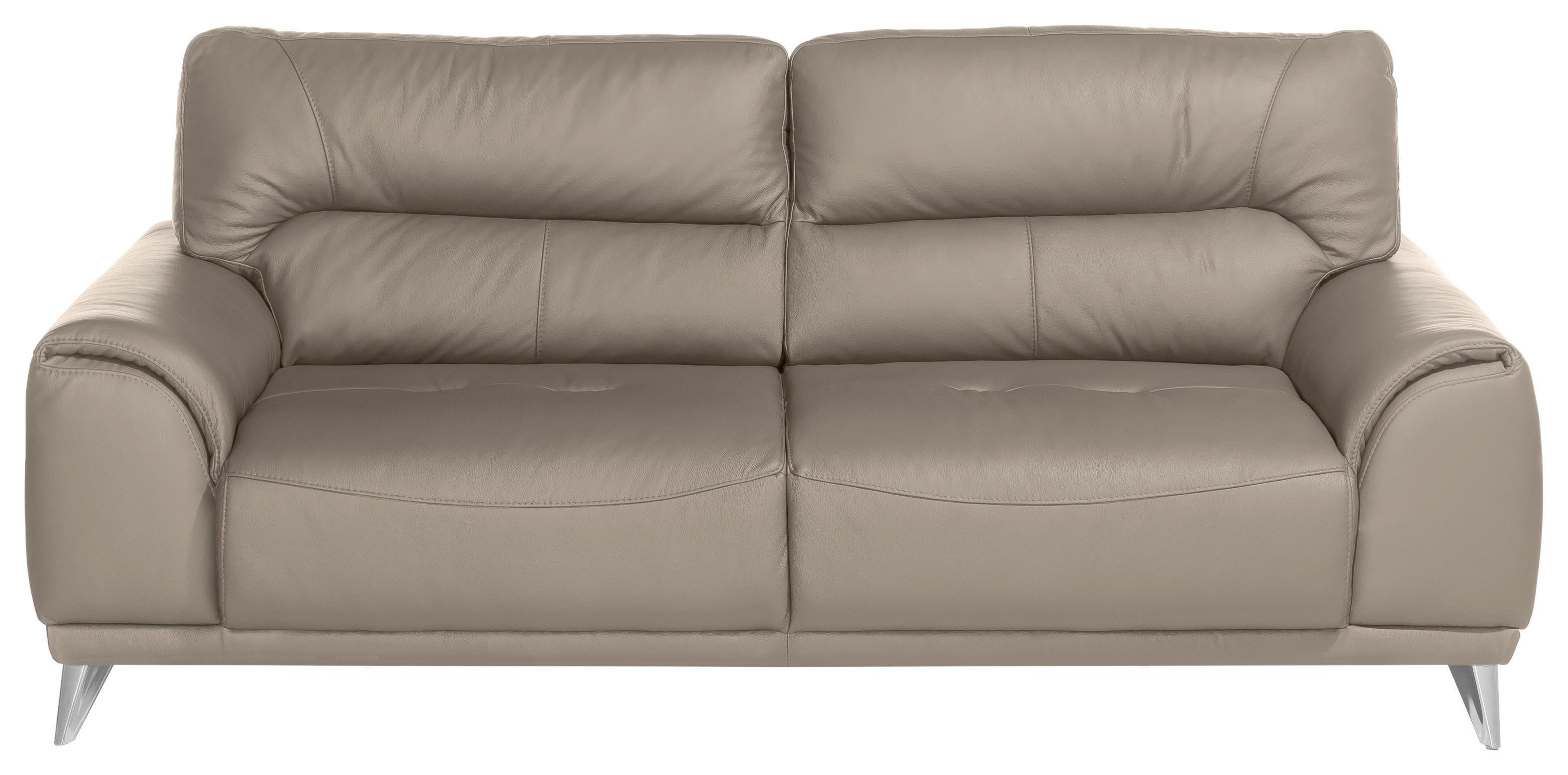 Dreisitzer Sofa Frisco   Sandfarben/Chromfarben, MODERN, Textil (210/92
