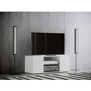 TV-Lowboard Lowina B: 95 cm Weiß - Schwarz/Weiß, KONVENTIONELL, Holzwerkstoff (95/40/36cm) - MID.YOU