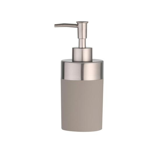 Seifenspender Lena - Taupe, MODERN, Kunststoff/Metall (7/17,5cm)