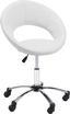 Otočná Židle Phillipp - bílá/černá, Moderní, kov/textilie (61/79-90,5/53cm) - Mömax modern living