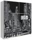 Schwebetürenschrank Plakato City 170,3 cm - Schwarz/Weiß, MODERN, Holzwerkstoff/Kunststoff (170,3/190,5/61,2cm)
