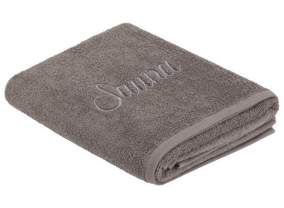 Saunatuch Sauna - Grau, ROMANTIK / LANDHAUS, Textil - James Wood