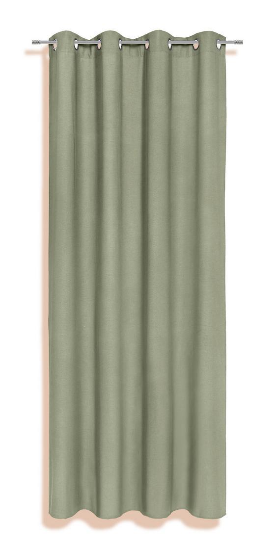 Ösenvorhang Alexis - Taupe/Violett, KONVENTIONELL, Textil (140/245cm) - Ombra