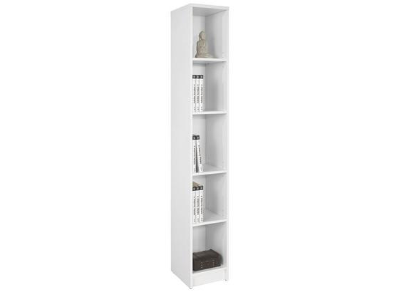 Regál 4-you Yur06 - biela, Moderný, kompozitné drevo (30/189,5/35,2cm)