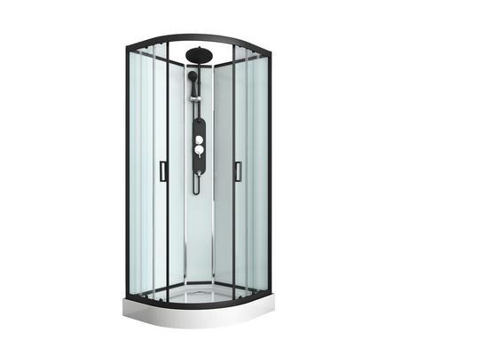 Duschkabine Epic 1 - Schwarz, MODERN, Glas/Metall (90/90/230cm) - Sanotechnik