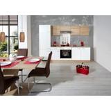 Küchenblock Samoa 270 cm Weiß/Sonoma Eiche - Eichefarben/Weiß, KONVENTIONELL, Holzwerkstoff (270cm)