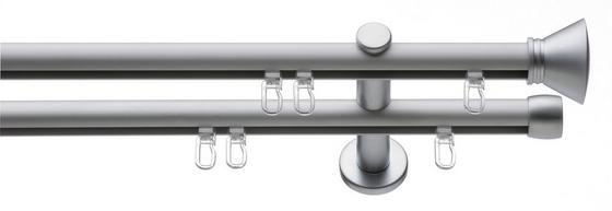 Rúdkarnis Ibiza - ezüst színű, konvencionális, fém (250/4.5/12cm)