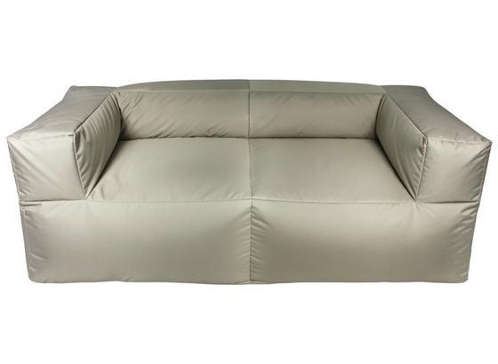 Outdoorsitzsack Lounge Sofa 185 cm Taupe - Taupe, KONVENTIONELL, Textil (185/60/85cm)