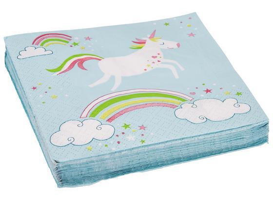 Ubrousek Unicorn - bílá/růžová, papír (33/33cm)