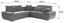 Sarokgarnitúra Logan - Barna/Sötétszürke, modern, Fa/Fém (270/270cm) - Ombra