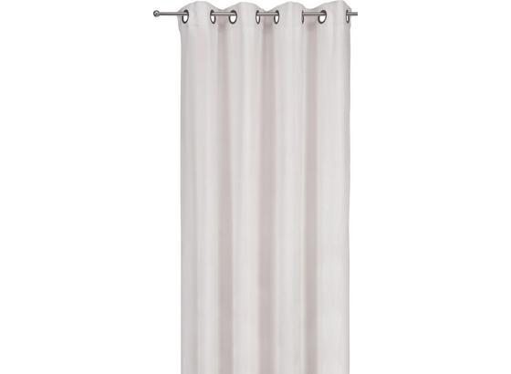 Závěs S Kroužky Velúr - pískové barvy, Moderní, textil (140/245cm) - Mömax modern living