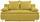 Boxspringsofa Marlene B: 208cm - Gelb, MODERN, Holz/Textil (208/100/106cm) - Luca Bessoni