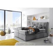 Boxspringbett Madison 2 ca. 180x200 cm - Grau, KONVENTIONELL, Holzwerkstoff/Textil (180/200cm) - Carryhome
