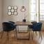 Židle Vani - šedá/černá, Moderní, kov/textil (61/81/51cm) - Modern Living