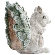 Dekoeichhörnchen Balbina - Beige/Grün, KONVENTIONELL, Kunststoff (18/8/14cm) - Ombra