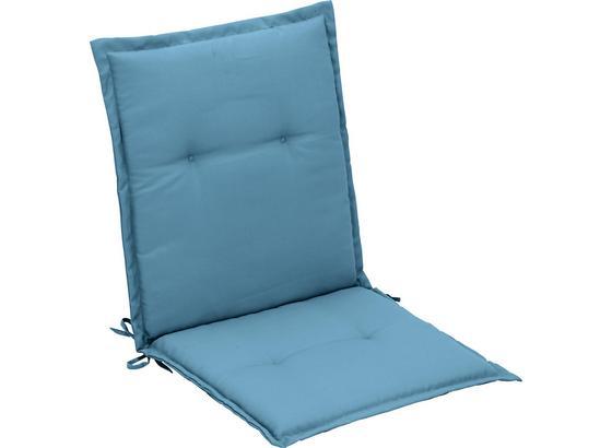 Vankúš Na Kreslo Poppi - modrá, textil (48/96/48cm) - Mömax modern living
